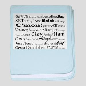 Tennis Words baby blanket
