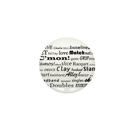Tennis Words Mini Button (10 pack)