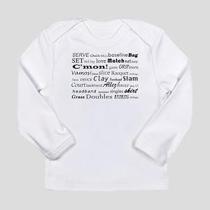Tennis Words Long Sleeve Infant T-Shirt