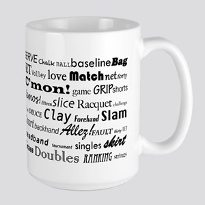 Tennis Words Large Mug