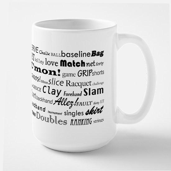 Tennis Words Large Mug