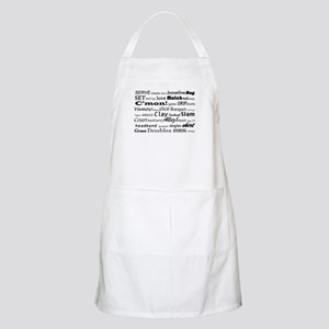 Tennis Words Apron