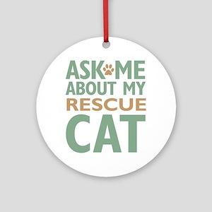 Rescue Cat Ornament (Round)