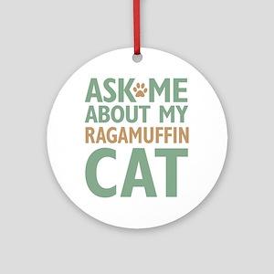 Ragamuffin Cat Ornament (Round)