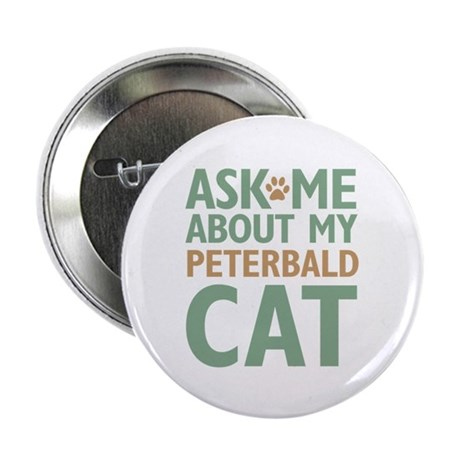 "Peterbald Cat 2.25"" Button (100 pack)"