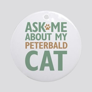 Peterbald Cat Ornament (Round)