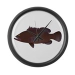 Warsaw Grouper Large Wall Clock