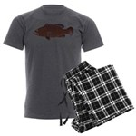 Warsaw Grouper Men's Charcoal Pajamas