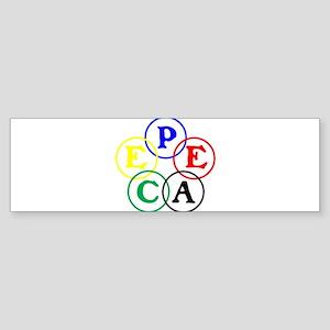 RINGS WORLD PEACE Sticker (Bumper)