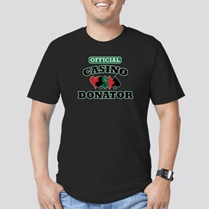 Official Casino Donator Men's Fitted T-Shirt (dark