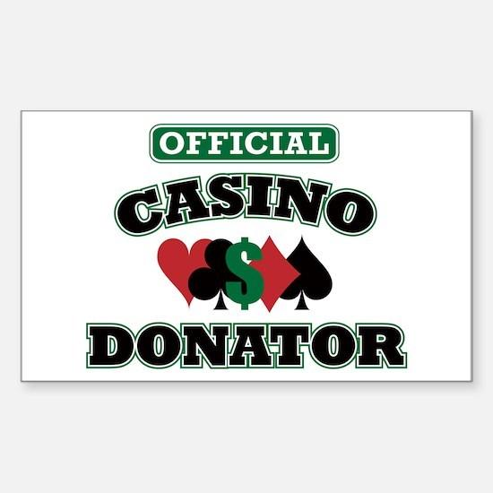 Official Casino Donator Sticker (Rectangle)