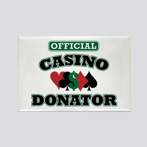 Official Casino Donator Rectangle Magnet
