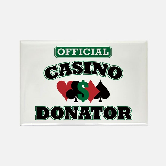Official Casino Donator Rectangle Magnet