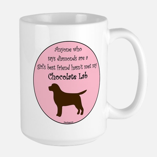 Girls Best Friend - Chocolate Large Mug