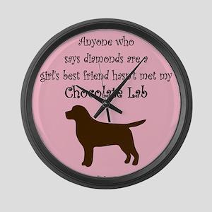 Girls Best Friend - Chocolate Large Wall Clock