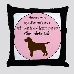 Girls Best Friend - Chocolate Throw Pillow
