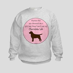 Girls Best Friend - Chocolate Kids Sweatshirt