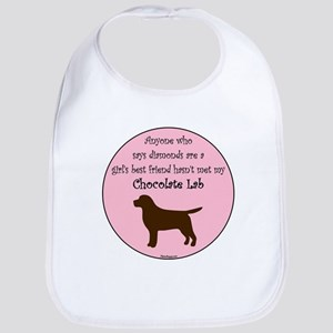 Girls Best Friend - Chocolate Bib