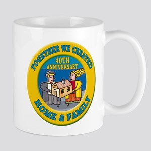 40th Wedding Anniversary Mug