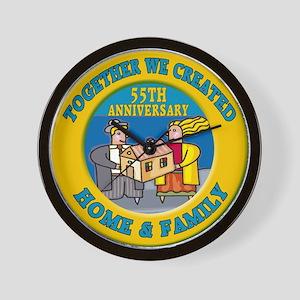 55th Wedding Anniversary Wall Clock