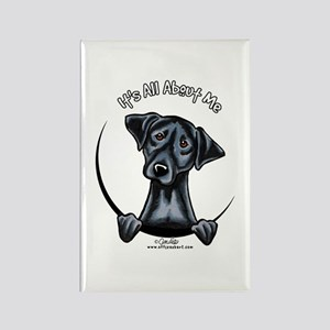 Black Lab IAAM Rectangle Magnet