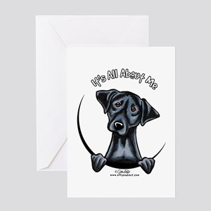 Black Lab IAAM Greeting Card