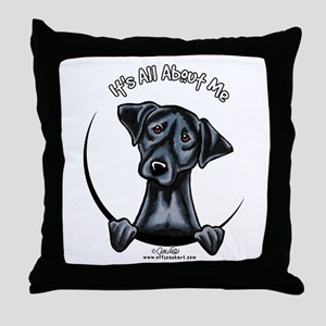 Black Lab IAAM Throw Pillow