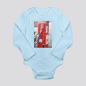 old fashion gas pump Long Sleeve Infant Bodysuit