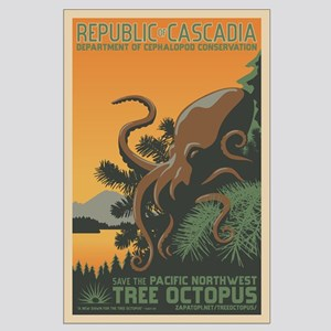 """A New Dawn"" Tree Octopus Large Poster"