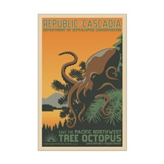 """""""A New Dawn"""" Tree Octopus Posters"""