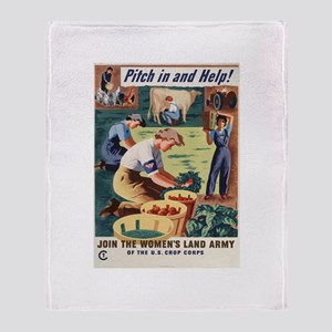 PITCH IN AND HELP! Throw Blanket