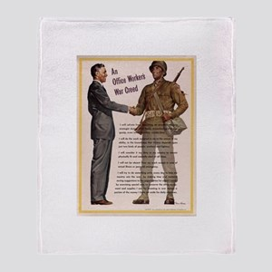 AN OFFICE WORKERS WAR CREED Throw Blanket