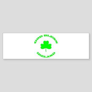 God Bless Ireland Sticker (Bumper)