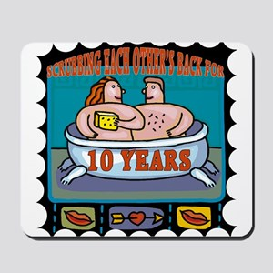 10th Wedding Anniversary Mousepad