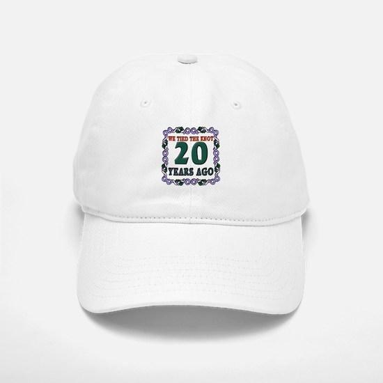 20th Wedding Anniversary Baseball Baseball Cap