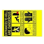 entrances2hell Safety Postcards (Package of 8)