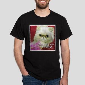 White Persian and Pink Dark T-Shirt