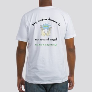 Organ Donor Angel Wings Fitted T-Shirt