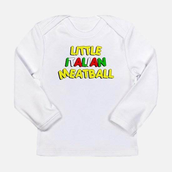 Little Italian Meatball Long Sleeve Infant T-Shirt