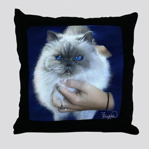 Himalayan Blue Throw Pillow