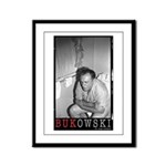 Framed Panel Print BUKOWSKI ON THE CAN