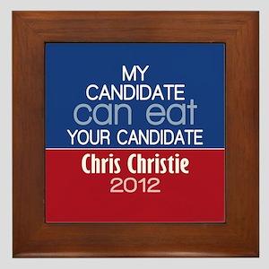 Funny Chris Christie 2012 Framed Tile