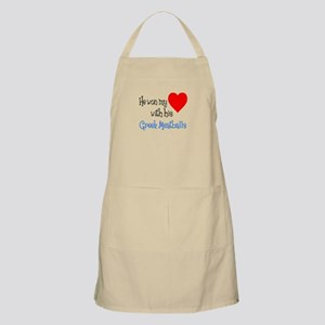 Won My Heart With Greek Meatballs Apron
