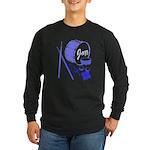 Jazz Drums Blue Long Sleeve Dark T-Shirt