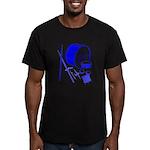 Jazz Drums Blue Men's Fitted T-Shirt (dark)
