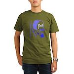 Jazz Drums Blue Organic Men's T-Shirt (dark)