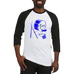 Jazz Drums Blue Baseball Jersey
