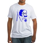 Jazz Drums Blue Fitted T-Shirt