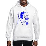 Jazz Drums Blue Hooded Sweatshirt
