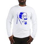 Jazz Drums Blue Long Sleeve T-Shirt
